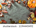 card for holiday halloween top... | Shutterstock . vector #1194445492