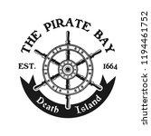 rudder wheel vector pirate... | Shutterstock .eps vector #1194461752