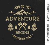 adventure typography. textured... | Shutterstock .eps vector #1194463888