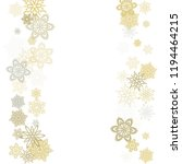 gold silver paper snowflakes...   Shutterstock .eps vector #1194464215