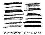 vector set of hand drawn brush... | Shutterstock .eps vector #1194466465