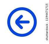 back or undo icon   Shutterstock .eps vector #1194471715