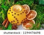 Orange Pomander Ball With...