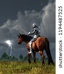 A Knight On Horseback In...