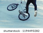 bicycle rider performing a... | Shutterstock . vector #1194493282