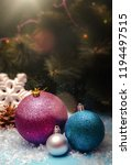 christmas balls with christmas... | Shutterstock . vector #1194497515