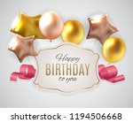 color glossy happy birthday... | Shutterstock .eps vector #1194506668