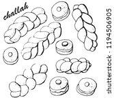 braided bread  challah   jewish ... | Shutterstock .eps vector #1194506905