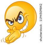 scheming villain emoticon...   Shutterstock .eps vector #1194509842
