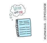 cartoon doodle handdrawn vector ... | Shutterstock .eps vector #1194510658