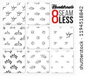 seamless pattern with crown... | Shutterstock .eps vector #1194518842