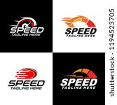 fast and speed set logo...   Shutterstock .eps vector #1194523705