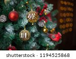 beautiful decorated christmas... | Shutterstock . vector #1194525868