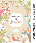 cute winter frame with magic... | Shutterstock .eps vector #1194531505