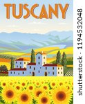 summer day in tuscany  italy.... | Shutterstock .eps vector #1194532048