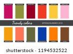 Trendy Colors Palette. Spring...
