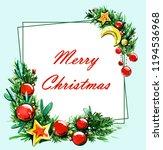 christmas tree christmas...   Shutterstock . vector #1194536968