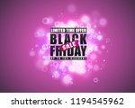 black friday sale banner. black ... | Shutterstock .eps vector #1194545962