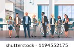 business people group hand... | Shutterstock .eps vector #1194552175