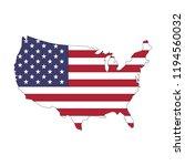 usa flag map | Shutterstock .eps vector #1194560032