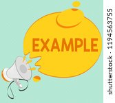 writing note showing example.... | Shutterstock . vector #1194563755