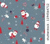 christmas seamless pattern... | Shutterstock .eps vector #1194564712