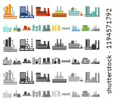 factory and facilities cartoon...   Shutterstock .eps vector #1194571792