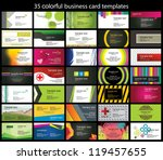 35 colorful business card... | Shutterstock .eps vector #119457655