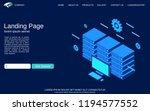 website landing page vector... | Shutterstock .eps vector #1194577552