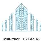 high buildings  residential... | Shutterstock .eps vector #1194585268