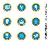 footer icons set. flat set of 9 ... | Shutterstock .eps vector #1194587962