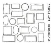 hand drawn frames set. vector... | Shutterstock .eps vector #1194593512