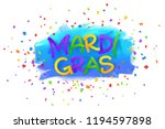 mardi gras paper style sign on... | Shutterstock . vector #1194597898