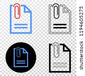 paperclip page eps vector icon...   Shutterstock .eps vector #1194605275