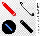 pencil eps vector pictograph...   Shutterstock .eps vector #1194605278