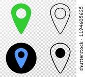 map pointer eps vector...   Shutterstock .eps vector #1194605635