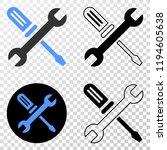 repair tools eps vector...   Shutterstock .eps vector #1194605638