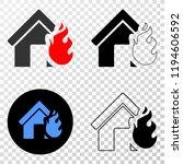 house fire disaster eps vector...   Shutterstock .eps vector #1194606592