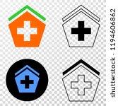hospital eps vector pictograph...   Shutterstock .eps vector #1194606862