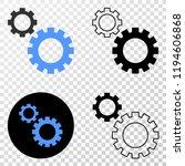 gears eps vector pictograph...   Shutterstock .eps vector #1194606868