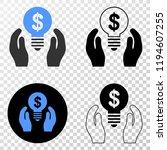dollar bulb care hands eps...   Shutterstock .eps vector #1194607255