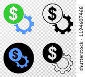 dollar setup gear eps vector...   Shutterstock .eps vector #1194607468
