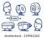 sushi doodles