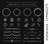 ornaments collection vector... | Shutterstock .eps vector #1194632275
