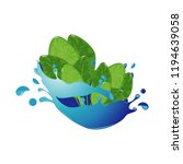 spinach healthy natural... | Shutterstock .eps vector #1194639058