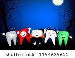 Funny Cute Cartoon Tooth...