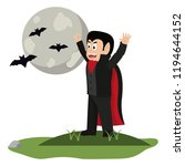 kid and halloween cartoon | Shutterstock .eps vector #1194644152
