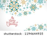 merry christmas holiday design... | Shutterstock .eps vector #1194644935
