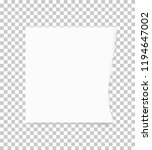 torn paper edges for background.... | Shutterstock .eps vector #1194647002