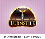 gold shiny badge with caduceus ... | Shutterstock .eps vector #1194659098